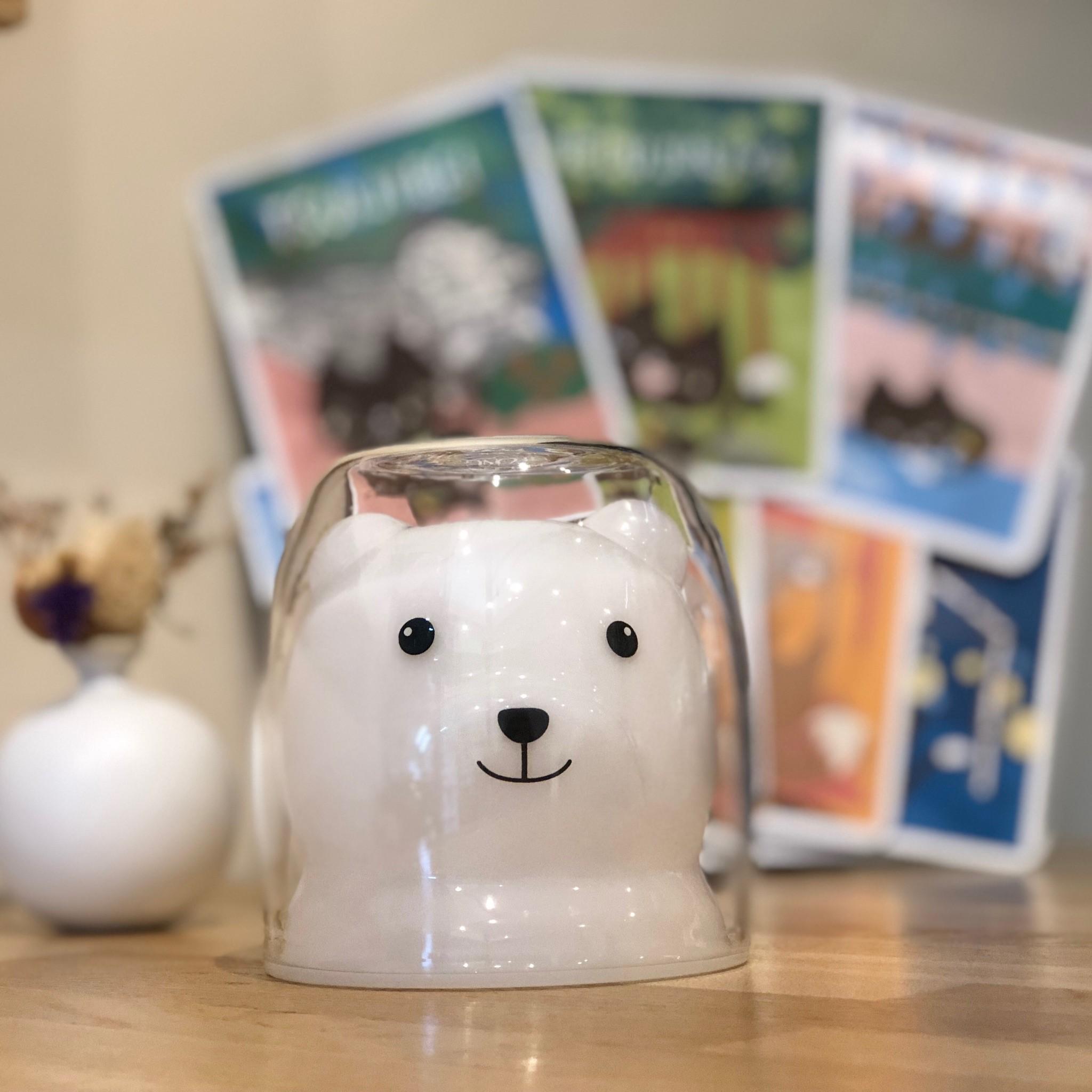 熊のガラスカップ