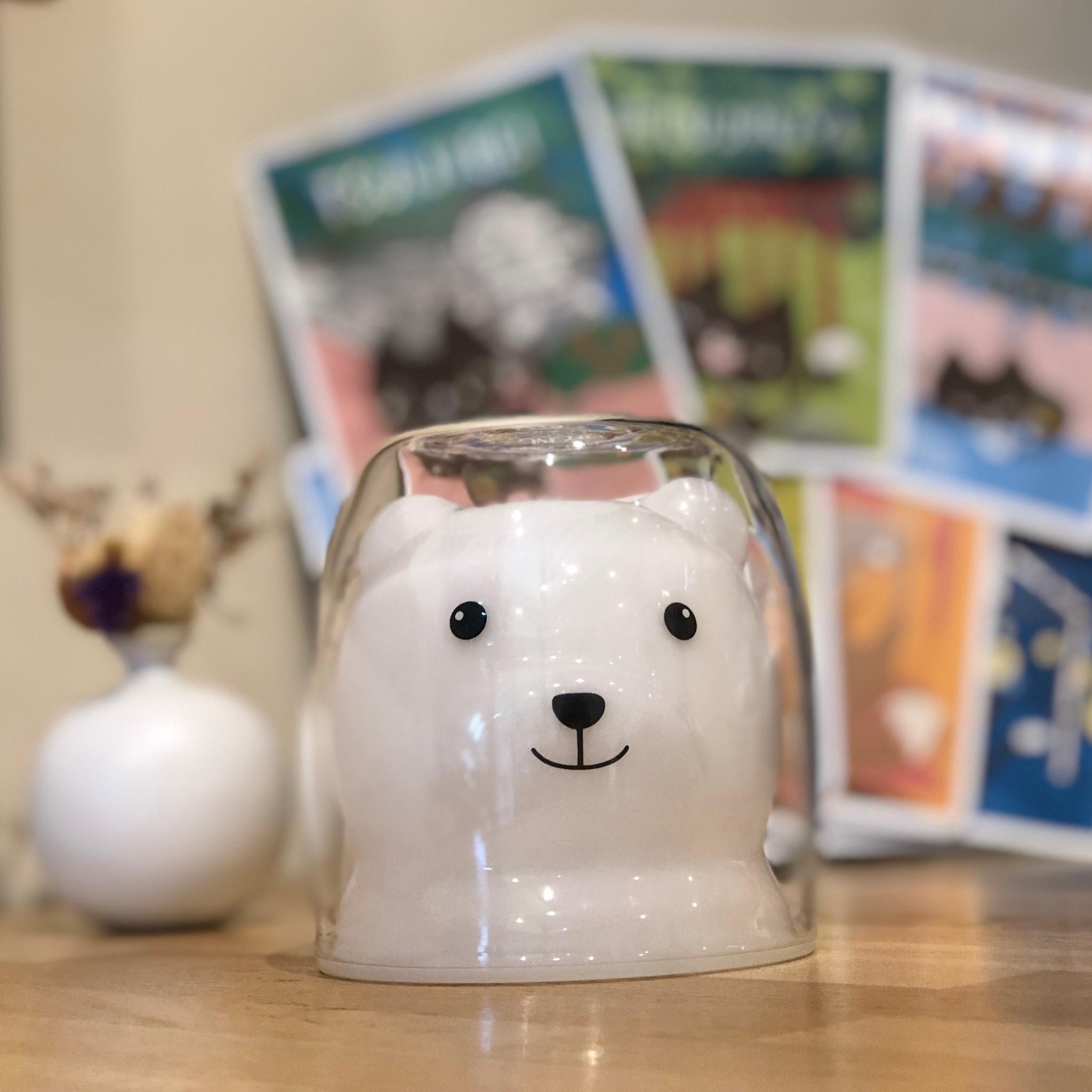 熊のガラスカップのメイン画像